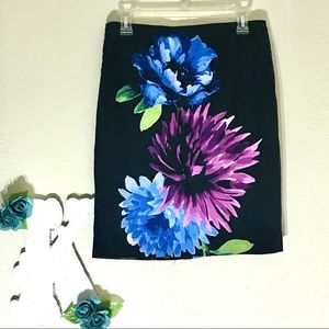 Black Floral Skirt by Premise size 8